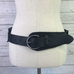 Bed stu belt black Eastwood M genuine leather